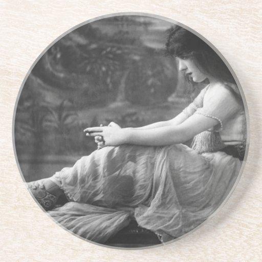 Vintage 1913 Evelyn Nesbit Coaster