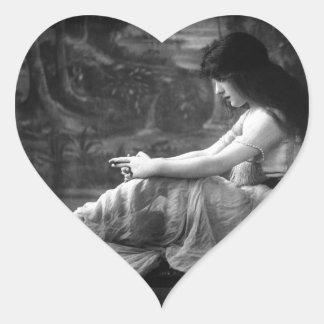 Vintage 1913 Evelyn Nesbit Heart Sticker