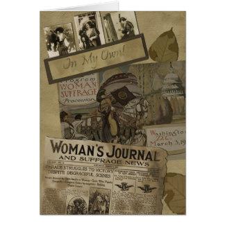 "Vintage ""1913 Woman's Suffrage"" Scrapbook Card"