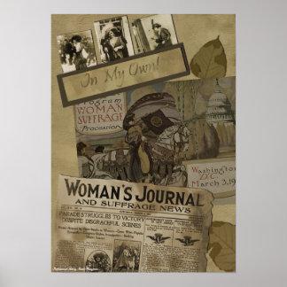 "Vintage ""1913 Woman's Suffrage"" Srapbook Print"