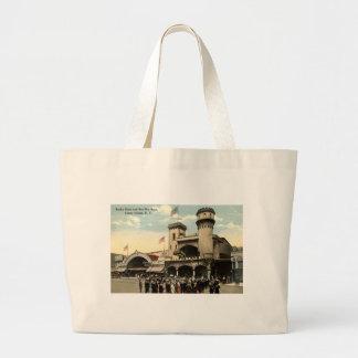 Vintage 1914 de Coney Island NY de la raza de Ben  Bolsa Tela Grande