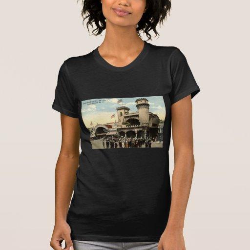 Vintage 1914 de Coney Island NY de la raza de Ben Camisetas