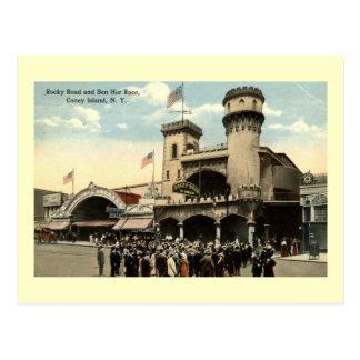 Vintage 1914 de Coney Island NY de la raza de Ben Postales