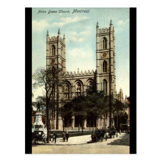 Vintage 1914 de Montreal de la iglesia de Notre Da Postal