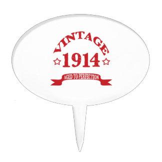 Vintage 1914 envejecido a Paerfection Decoración De Tarta