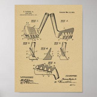 Vintage 1914 Golf Club Design Patent Art Print