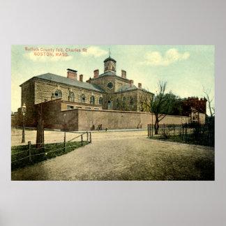 Vintage 1915 de Boston Massachusetts de la cárcel  Impresiones