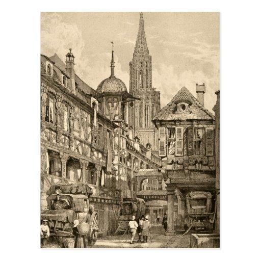 Vintage 1915 de la escena de la calle de Samuel Pr Tarjeta Postal