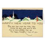 Vintage 1915 de la Feliz Año Nuevo Tarjetas