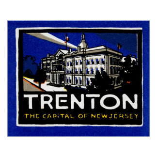 Vintage 1915 Trenton NJ Póster