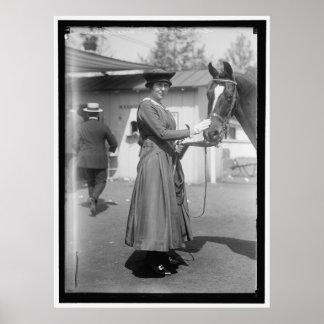 Vintage 1916 Horse Show Photo Poster