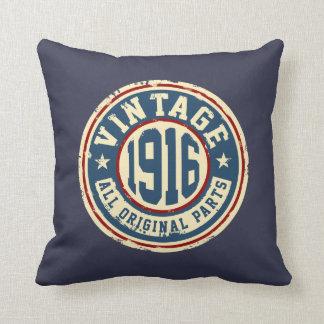 Vintage 1916 todas las piezas de la original cojín