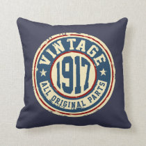 Vintage 1917 All Original Parts Throw Pillow