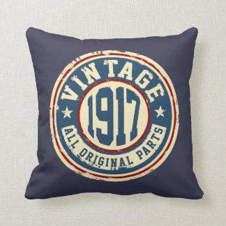 Vintage 1917 All Original Parts Throw Pillow