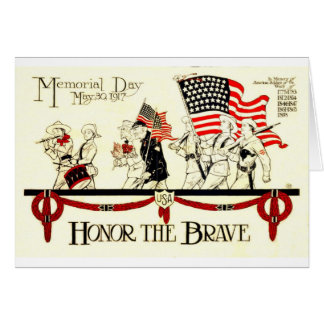 Vintage 1917 Memorial Day Poster Card
