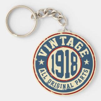 Vintage 1918 All Original Parts Basic Round Button Keychain