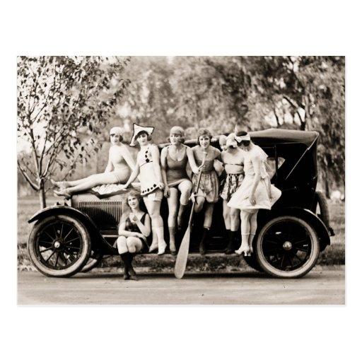 Vintage 1918 de los chicas de Mack Sennett Tarjetas Postales