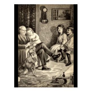 Vintage 1918 de los cuentos del abuelo tarjetas postales