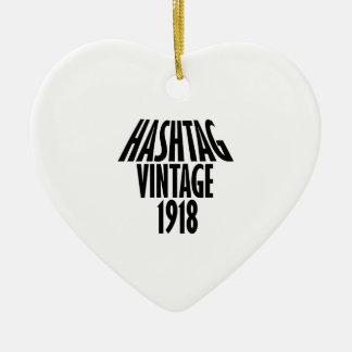 vintage 1918 designs ceramic ornament