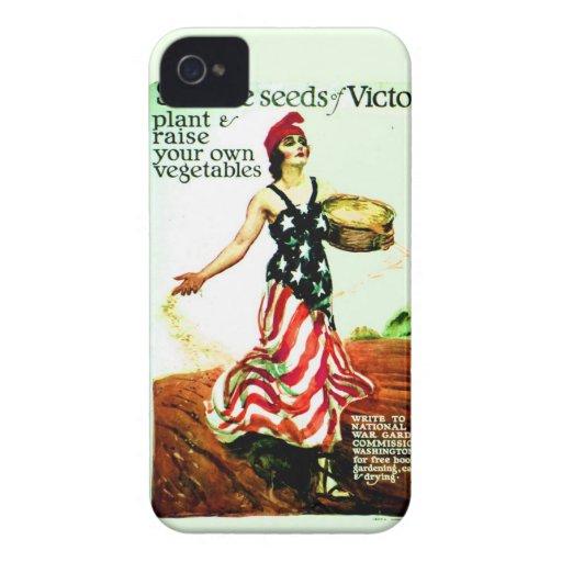 Vintage 1918 Patriotic Poster iPhone4 Case Case-Mate iPhone 4 Cases