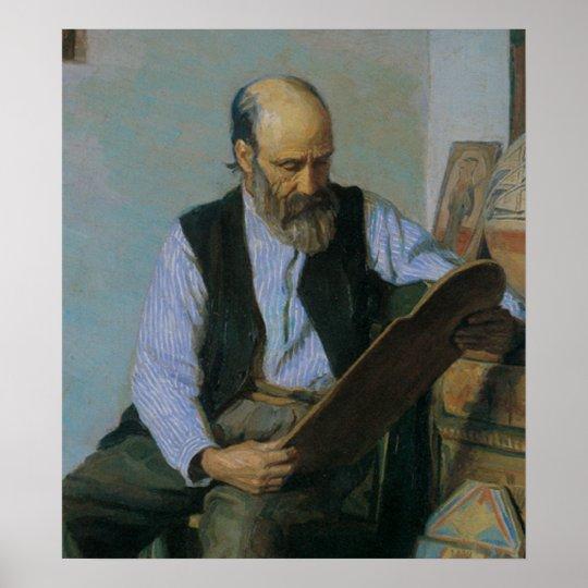 Vintage 1918 Santero Art Print Poster