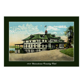 vintage 1918 Uniontown Country Club PA Poster