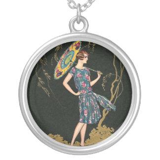 Vintage 1920 Flapper Art Deco Necklace 5
