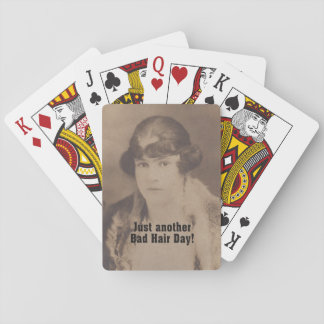Vintage 1920 Funny Just Another Bad Hair Day Playing Cards