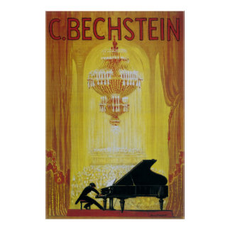 vintage 1920 piano advertising poster