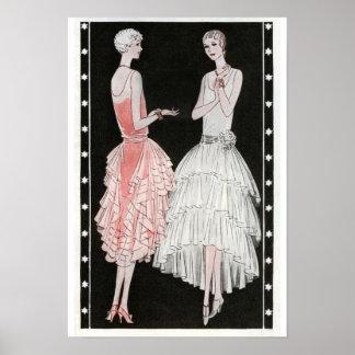 Vintage 1920 s Fashion Poster Print