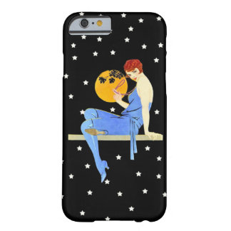 Vintage 1920's Flapper Lady Moon Stars Red Hair Barely There iPhone 6 Case