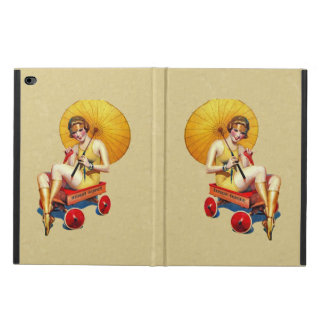 Vintage 1920's Flapper Lady Umbrella Wagon Bathing Powis iPad Air 2 Case
