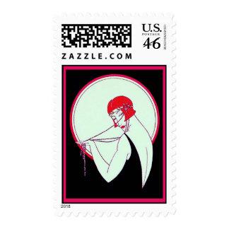 Vintage 1920 s Flapper Stamp