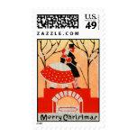 Vintage 1920s-1930s Christmas Medium Postage Stamp