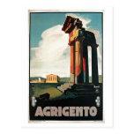 Vintage 1920s Agrigento Italian travel Postcards