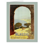 Vintage 1920s Alassio Italian travel poster Card