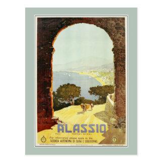 Vintage 1920s Alassio Italian travel poster Postcards