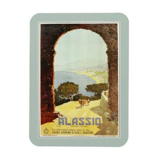 Vintage 1920s Alassio Italian travel poster Magnet