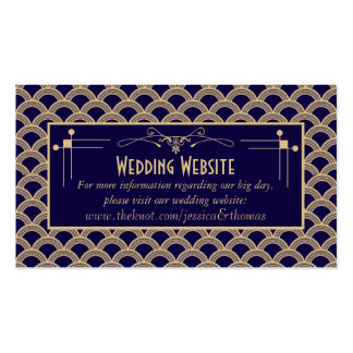Vintage 1920's Art Deco Gatsby Wedding Collection Business Card