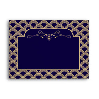 Vintage 1920's Art Deco Gatsby Wedding Collection Envelope