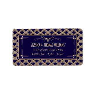Vintage 1920's Art Deco Gatsby Wedding Collection Label