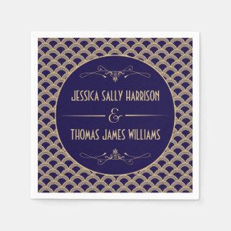 Vintage 1920's Art Deco Gatsby Wedding Collection Paper Napkin