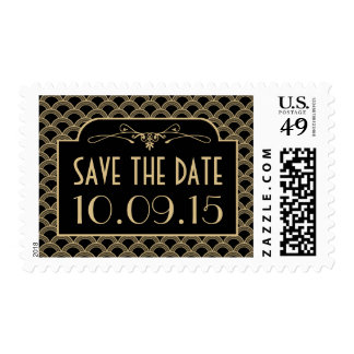 Vintage 1920's Art Deco Gatsby Wedding Collection Postage