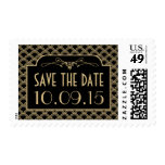 Vintage 1920's Art Deco Gatsby Wedding Collection Stamps