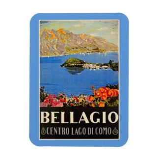 Vintage 1920s Bellagio Italian travel advert Rectangular Photo Magnet