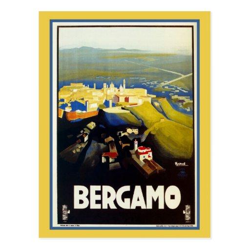Vintage 1920s Bergamo Italian travel Post Cards
