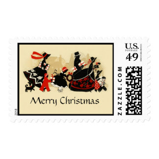 Vintage 1920s Christmas Holiday Postage Stamps