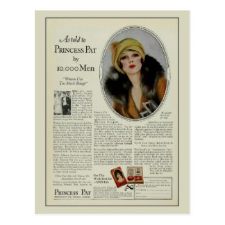 Vintage 1920s cosmetics magazine ad post card
