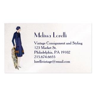 Vintage 1920's Fashion Business Card