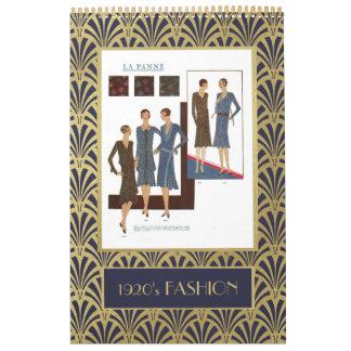 Vintage 1920s Fashion | Faux Gold Art Deco Calendar